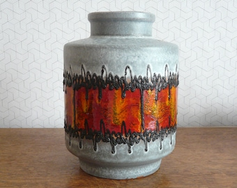 West German fat lava vase Carstens Tonnieshof 1264-25 | Mid Century pottery