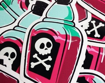 Poison Bottle Vinyl Sticker