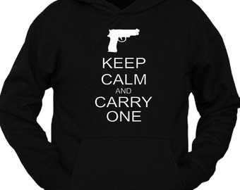 Keep Calm and Carry One Hoodie