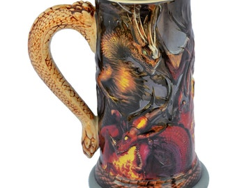Dragon Wrap Beer Stein