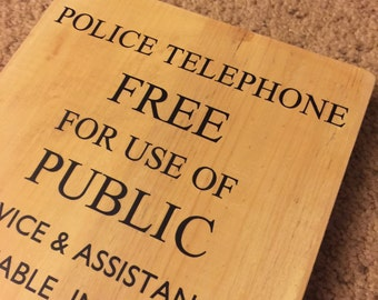 "Police Public Call Box Sign - 11"" x 7.75"" - Doctor Who - TARDIS"