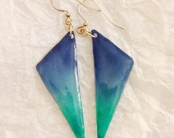Hand Made Earrings - triangle -