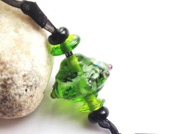 Green Focal Pendant Bead Lampwork SRA