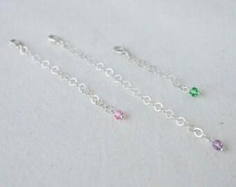 Silver Extension Chain Sterling Necklace Extender Sterling Silver Bracelet Extender Layered Stacked Support Larger Bracelet