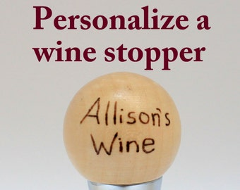 Personalized Wine Stoppers,