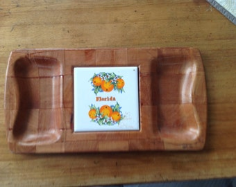 Tray for cheese and crackers or terrine