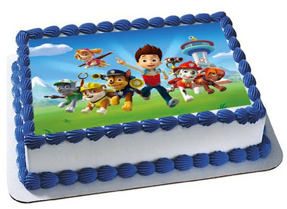 Edible Cake Decorations Paw Patrol : Paw Patrol Edible Cake Topper Premium frosting by ...