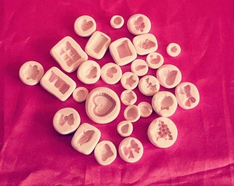 30X SILICONE MOLDS STAMPI