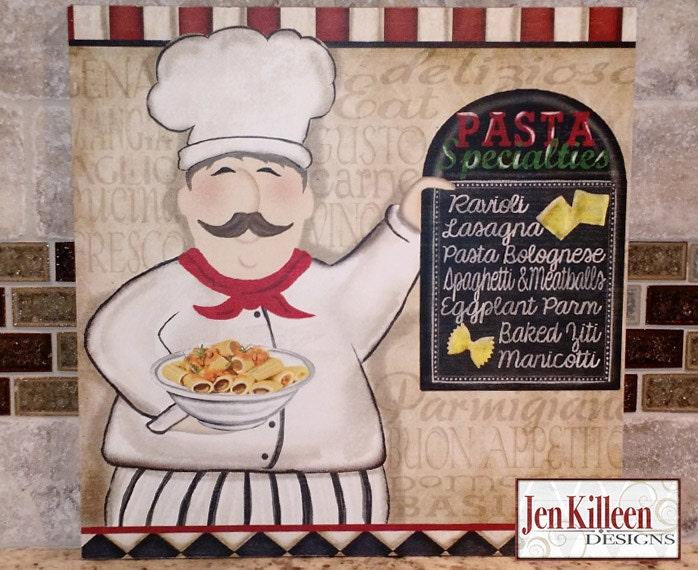 chef decor chef kitchen art chef wood sign fat chef