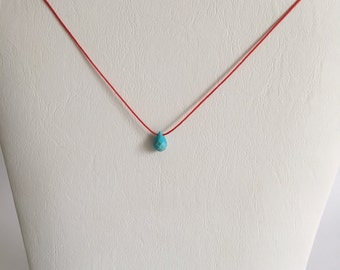Red Cord Pendant Necklace