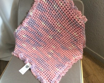 Purple pink knitted cover