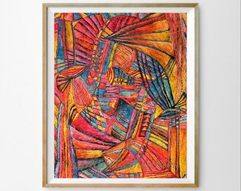 Printable abstract Colorful art print Abstract download Abstract wall art Abstract print download Colorful wall art Instant download