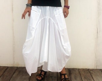 balloon skirt white