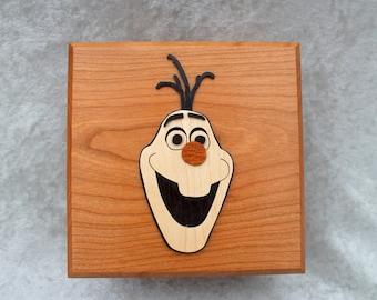 Olaf wooden trinket storage box