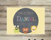 Little monster birthday invitation, Monster invite