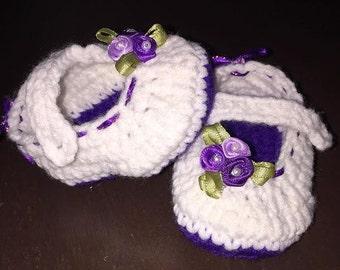 Crochet Mary Jane Baby Shoe