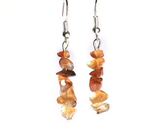 Earrings - Citrine Chipped Crystal