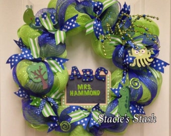 Teacher Wreath, Classroom Wreath, School Wreath