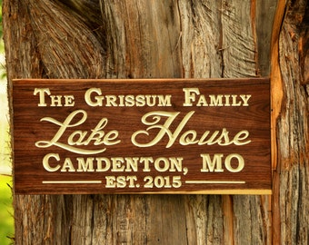 Custom Wood Name Sign. Personalized Family Name Last Name Established Estates Sign. Personalized Outdoor Sign. Established Family Sign