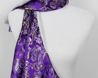 Imperial Purple Floral Scarf