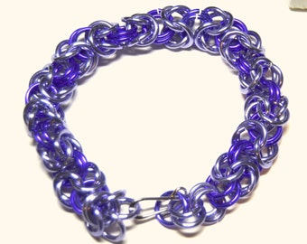 Shades of Purple Byzantine weave chainmaille bracelet