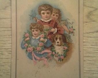 1880's HAPPY NEW YEAR card.