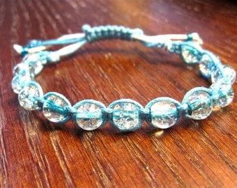 Blue macrame/frienship bracelet