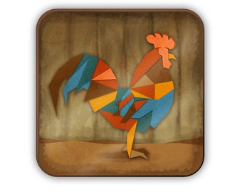 Geometric Rooster coaster