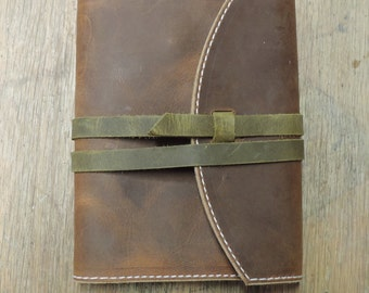 Leather Journal Cover, Notebook Cover