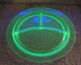 Vaseline Glass partition plate