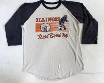University of Illinois Football Fighting Illini 1984 Rose bowl Shirt