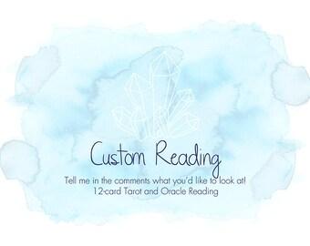 Custom Tarot Oracle Reading - 12 card minimum