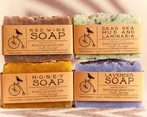 GIFT FOR MOM - Mother's Day soap, four natural soaps, homemade soap, handmade soap