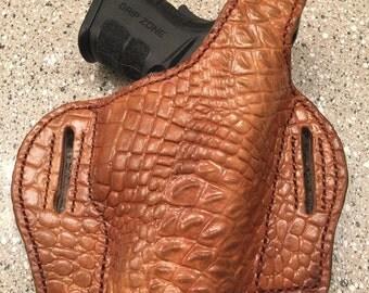 Custom Croc Print Leather Holster