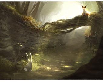 Fox Forest, 8x12 print