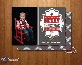 Printable Christmas Card - Photo Christmas Card – Very Merry