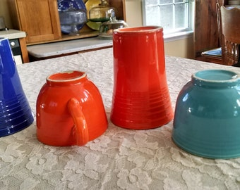 4 pieces of Fiesta - circa 1939-1944 chipped