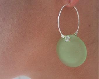 Seaglass Sterling Silver Earrings     ES005