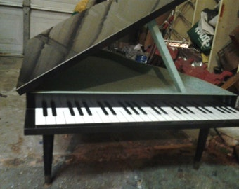 vintage baby grand piano coffee table