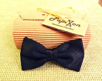 Black Silk Bow Tie