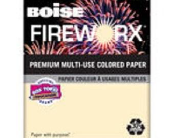 Boise Fireworx Paper, Letter, Flashing Ivory, 20lb, 500ct x 2 Reams