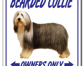 Bearded Collie ~Novelty Sign~ Dog Pet Parking Herding