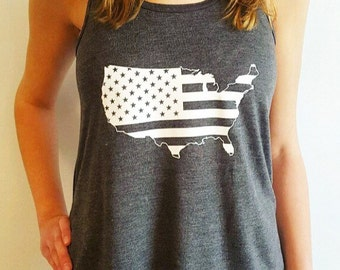 America Front and Back Tank