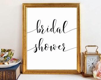 Wedding Sign, BRIDAL SHOWER Sign, DIY bridal shower printable, wedding signage, bridal signs, calligraphy signs, printablestyles