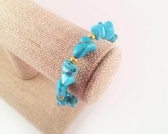 The Cean - Turquoise Gemstone Stretch Bracelet