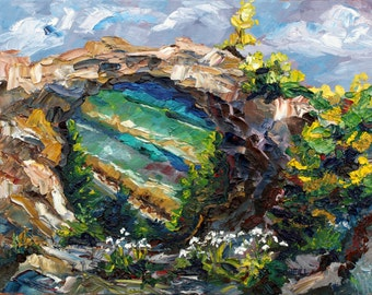 Arch Rock, Mackinac Island, Michigan Art, Rocky Beach, Historical Landscape, Coast