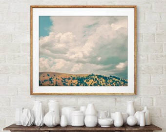 "landscape photography, instant download printable art, large art, large wall art, printable, modern, contemporary, art - ""Foothills Storm"""