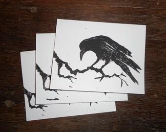 Raven cards, set of three