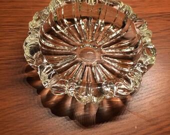 Crystal vintage ashtray