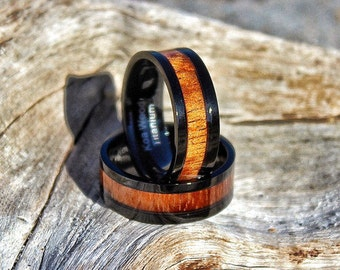 Devocean Black Koa Wood Ring